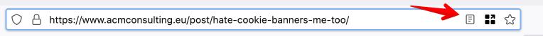 GDPR / Cookie shortcut